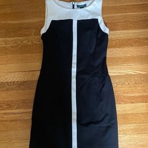 Lauren Ralph Lauren black and white dress size 8